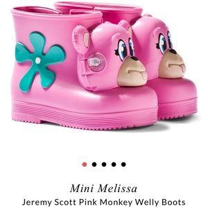 Jeremy Scott x Mini Melissa Girls Pink Monkey Boot